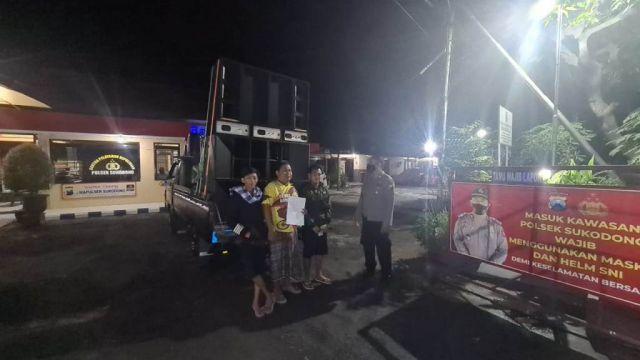 Polsek Sukodono Lumajang Amankan Patrol Sahur Keliling Sound System