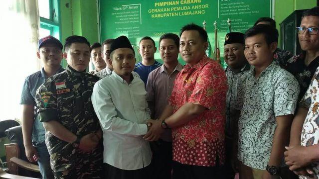 GP Ansor dan Pemuda Muhammadiyah Silaturrahim di Gedung NU Lumajang