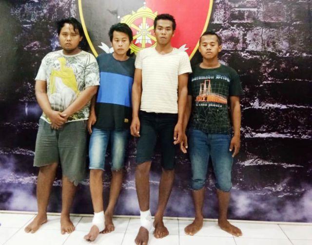 Inilah Wajah Sadis 4 Pelaku Pemerkosaan Gadis Kunir di Kebun Singkong JLS