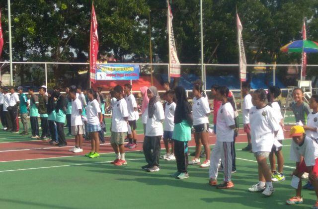 Puluhan Atlet Tenis Lapangan Ikuti Persami Korwil V-Pelti Jatim