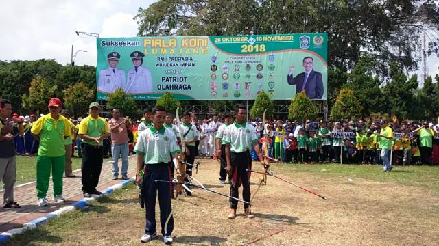 Tukarkan Banner Piala KONI Lumajang 2018 dengan Sepeda Gunung