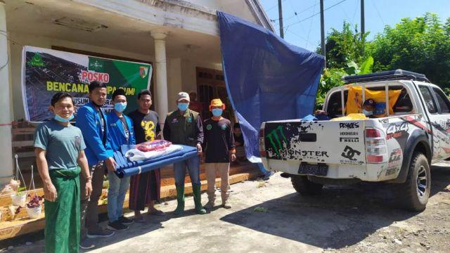 PMII Lumajang Salurkan Donasi Hasil Galang Dana Bagi Korban Gempa