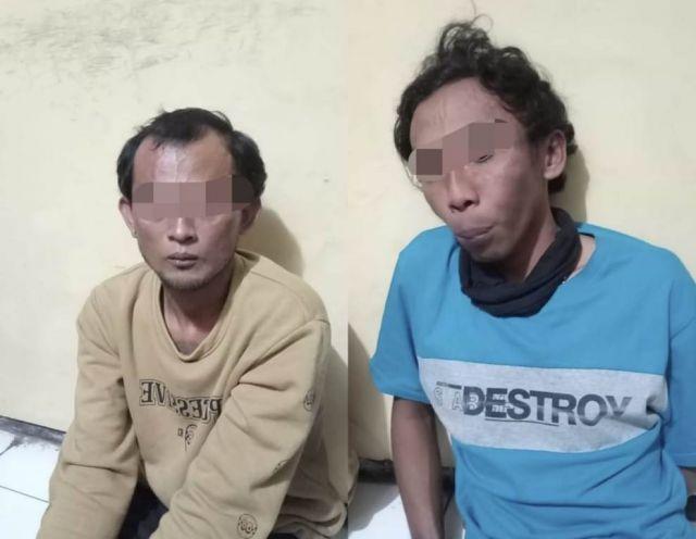 Polsek Pasirian Lumajang Ringkus 2 Orang Bawa Sajam Mencurigakan