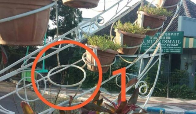 Kebacut..! Pot Bunga Taman Pancasila Lumajang Dicuri