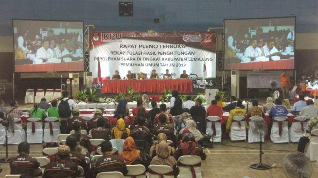 KPU Lumajang Gelar Rekapitulasi Hasil Pemilu 2019