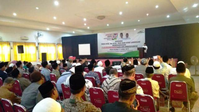 Relawan Kyai, Santri, Bu Nyai dan Kyai Langgar Lumajang Dukung Jokowi-Amin