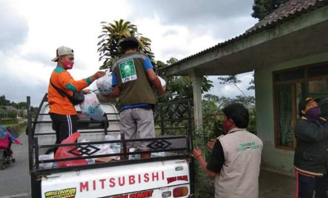 Relawan NU Peduli Lakukan Pendataan Pasca Bencana Erupsi Semeru
