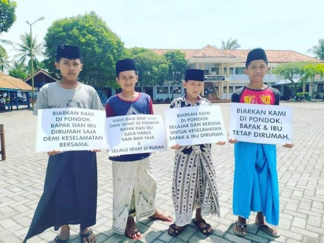 Cegah Corona Ponpes Miftahul Ulum Bakid Lumajang Terapkan Lockdown