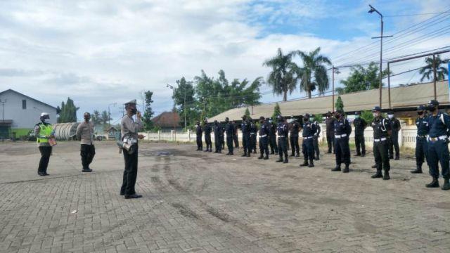 Sat Binmas Polres Lumajang Bina dan Latih Satpam PG Jatiroto
