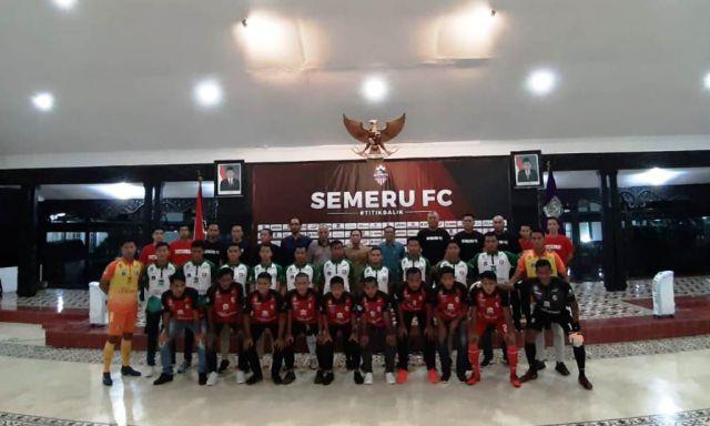 Semangat Titik Balik Launching Semeru FC di Pendopo Arya Wiraraja Lumajang