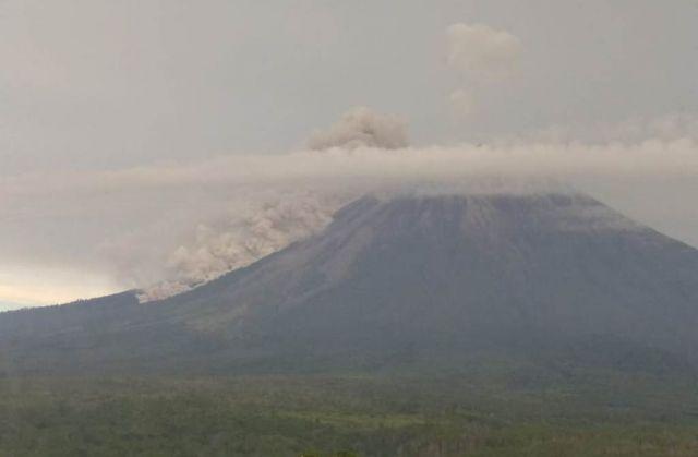 Gunung Semeru Lumajang Semburkan Awan Panas Sejauh Seribu Meter