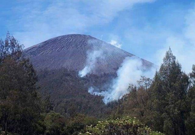 Lereng Semeru Terbakar, Jalur Pendakian dan Camping Ground Kalimati Steril