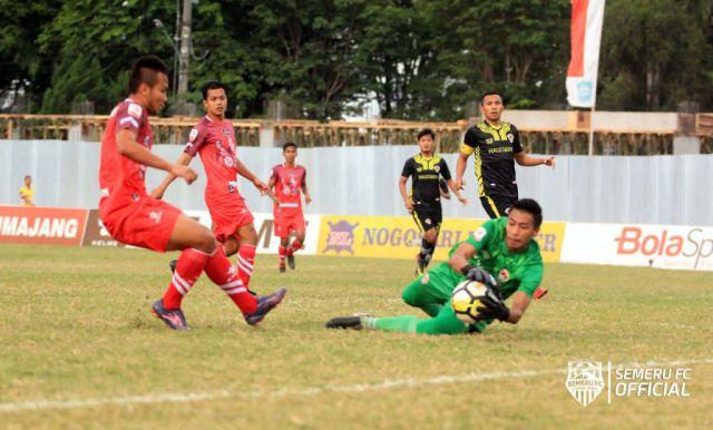 Main Dikandang, Semeru FC Harus Takluk 0-1 dari Kalteng Putra