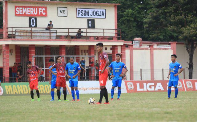 Semeru FC Dipaksa Takluk 0-1 saat Lawan PSIM Jogja