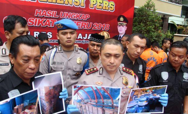 Polres Lumajang Pamer 42 Tersangka dalam Operasi Sikat Semeru 2018