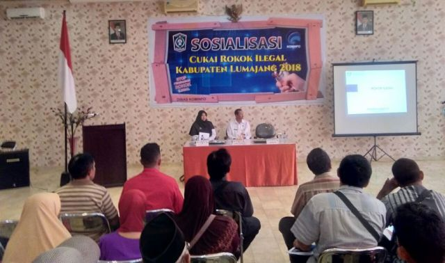 Pemerintah Himbau Masyarakat Lumajang Kenali Pita Cukai Illegal