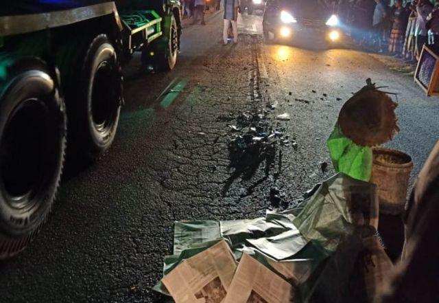Sukardi Meninggal Terlindas Truck Gandeng di Jalan Sumbersuko Lumajang