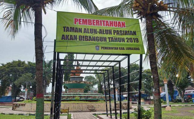 Taman Alun-alun Pasirian Segera Dibangun PKL Akan Direlokasi