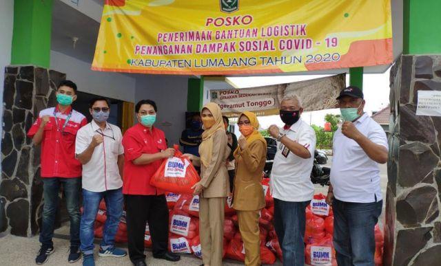 Telkom Indonesia Salurkan Sembako Bagi Warga Terdampak Corona Lumajang