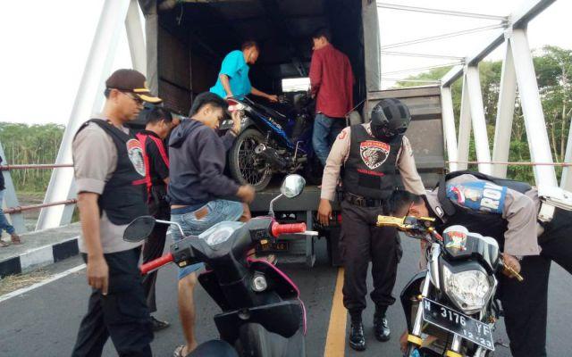 Operasi Senja, Tim Cobra Lumajang Amankan Sepeda Bodong di JLS