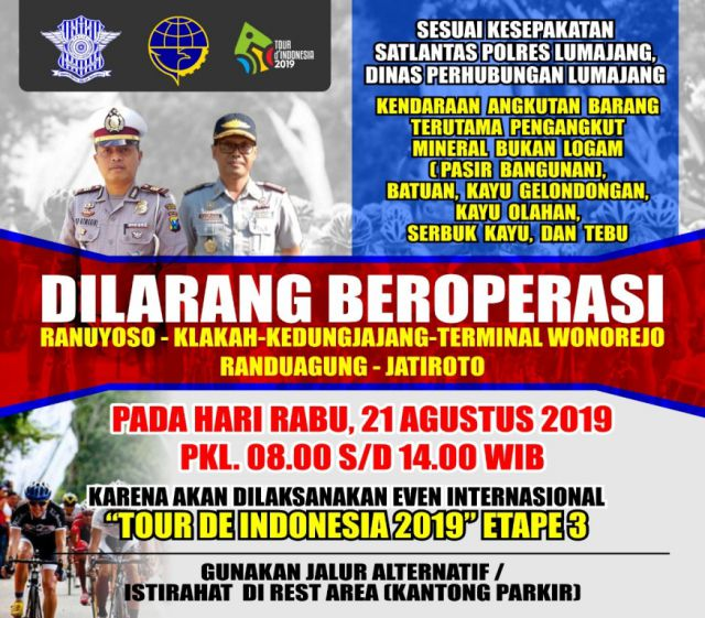 Besok, 100 Pembalap Tour de Indonesia akan Melintasi Lumajang