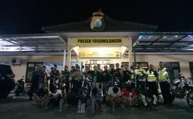 7 Bocah Mabuk Diamankan Tim Tangguh  Polres Lumajang di Yosowilangun