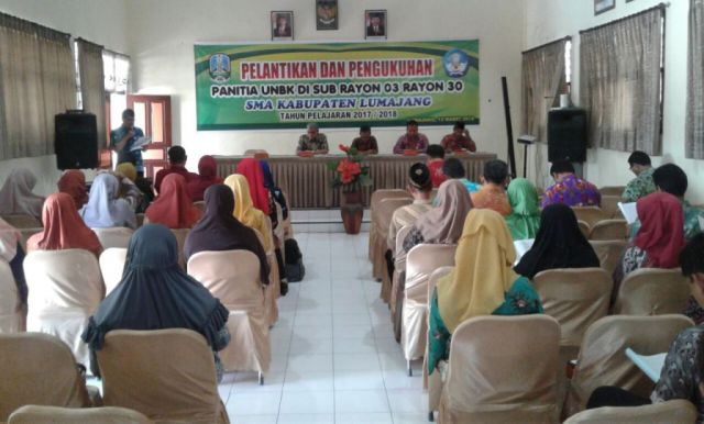 UNBK di Lumajang, Pengawas, Proktor dan Teknisi Dilantik