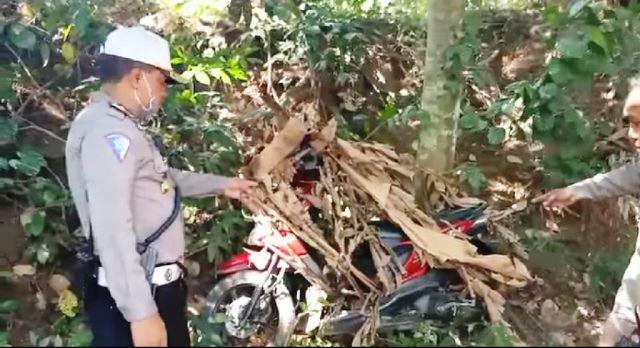 Tim Cobra Temukan 5 Motor Ditutupi Daun Pisang di Tengah Kabun