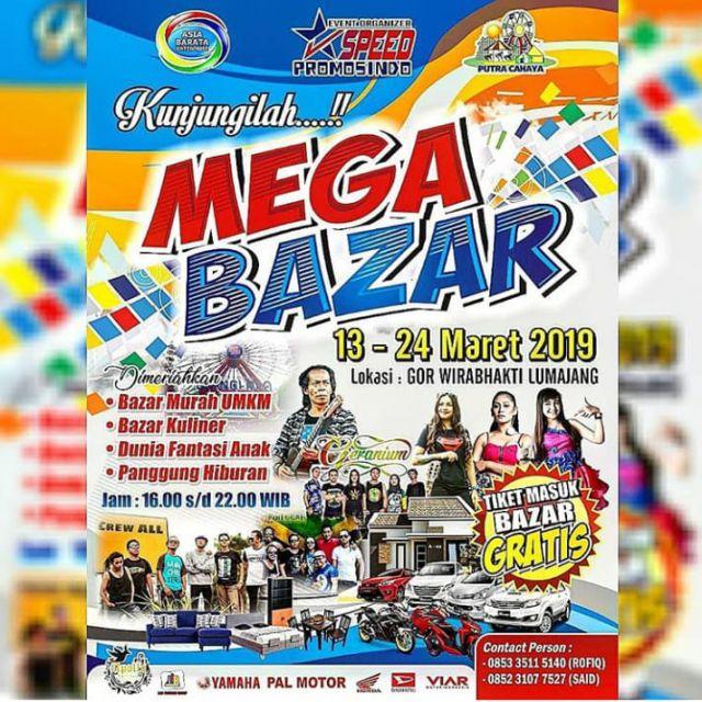 Yuk, Kunjungi Mega Bazar di GOR Wirabhakti Lumajang Gratis loh!!!