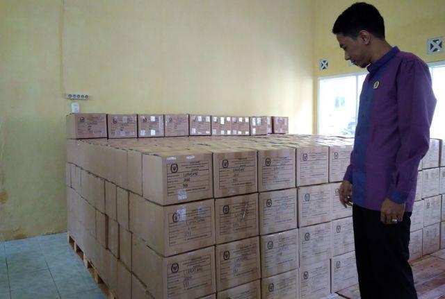 Surat Suara Pilkada Lumajang Sudah di Gudang KPU