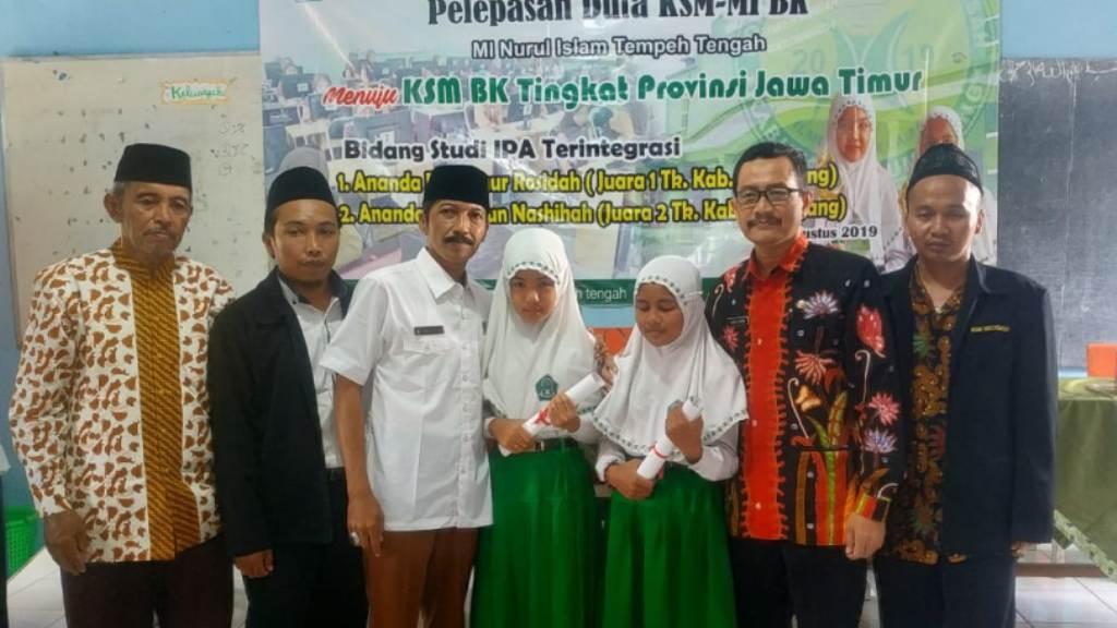 Hebat.! 2 Siswi MI Nuris Tempeh Ikuti Kompetisi Sains Madrasah Jatim