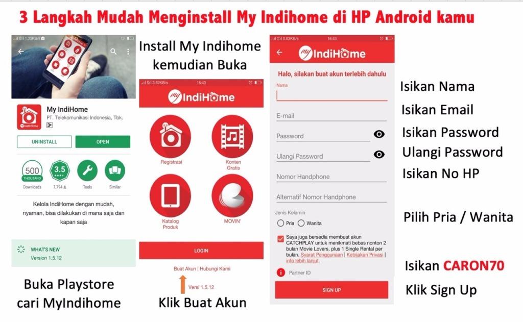 Ingin Lebih Mudah, Ayo Instal My IndiHome di HP Android Kamu...!!