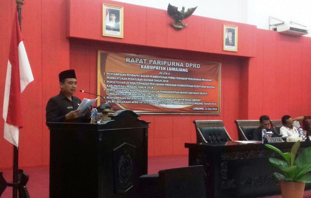Paripurna LKPJ, Bupati As'at Malik Sampaikan Terima Kasih kepada DPRD