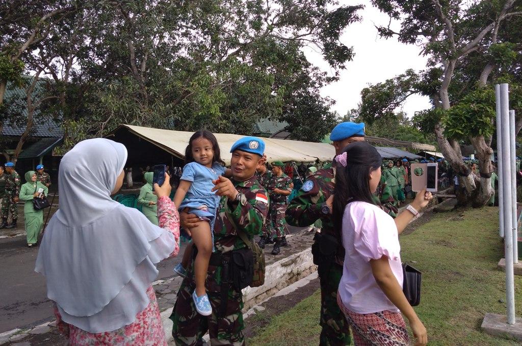 Bravo..!! Pasukan Batalyon 527 Lumajang Tugas Jaga Perdamaian di Afrika Tengah