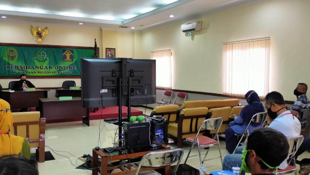 Persidangan Online Perdana Digelar di Lumajang