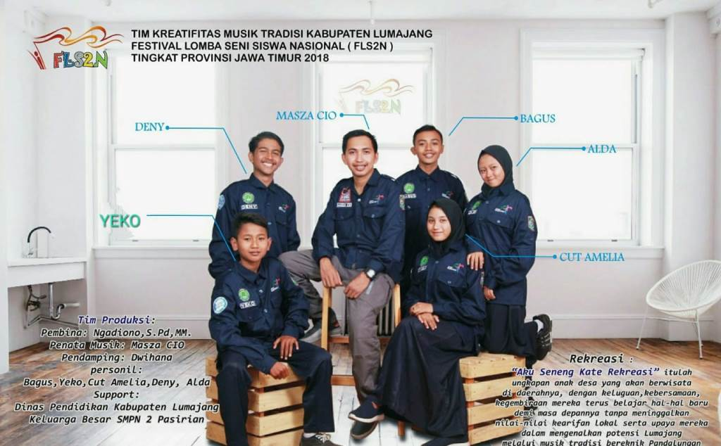 Wakil Lumajang, Siswa SMP N 02 Pasirian Ikuti FLS2N Tingkat Jatim
