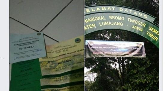 Tiket Masuk Hutan TNBTS di Lumajang Kembali Dikeluhkan Netizen