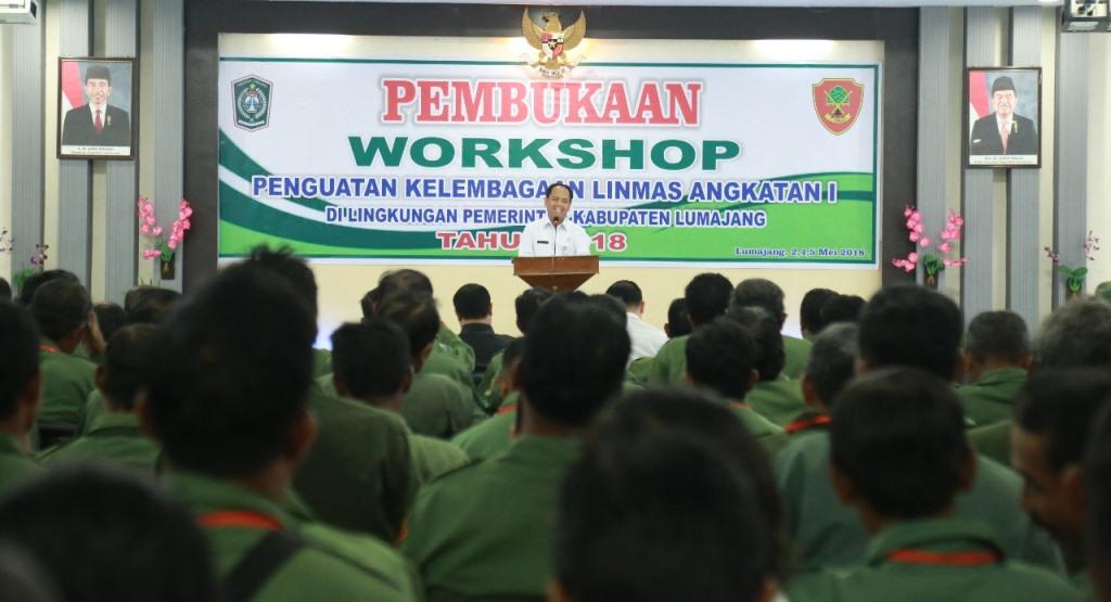 Pemkab Lumajang Gelar Workshop Penguatan Kelembagaan Hansip