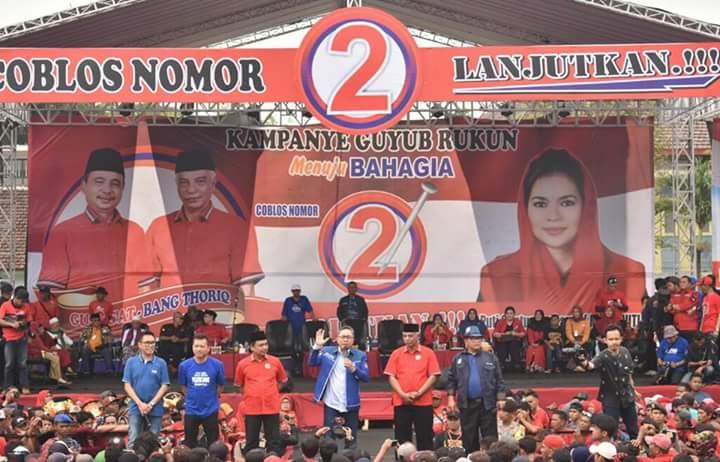 Zulkifli Hasan dan Tokoh PDI Perjuangan All Out Menangkan As'at-Thoriq